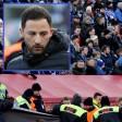 Domenico Tedesco sprach bewegend über den in Leverkusen gestürzten Fan.