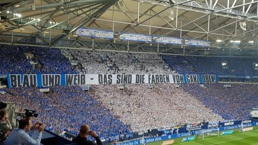 Die Fans des FC Schalke 04 zeigten gegen Borussia Dortmund eine spezielle Choreo.