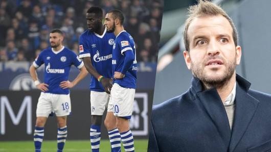 Rafael van der Vaart (l.) übt vernichtende Kritik am FC Schalke 04.