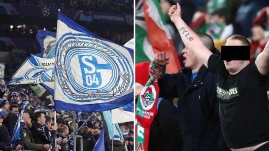 Gewaltbereits Fans von Schalke und Moskau gerieten am Dienstagabend mehrmals aneinander.