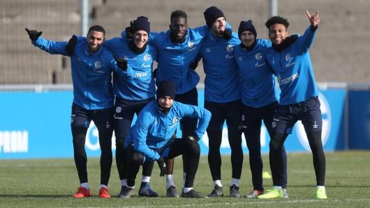Beim Mittwochs-Training des FC Schalke 04 herrschte beste Stimmung.