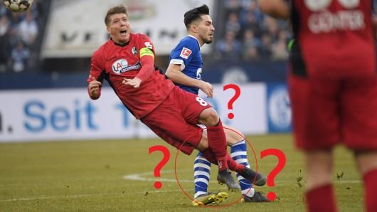 Im Spiel zwischen Schalke und Freiburg sah Suat Serdar nach diesem Foul Rot - zu Recht?