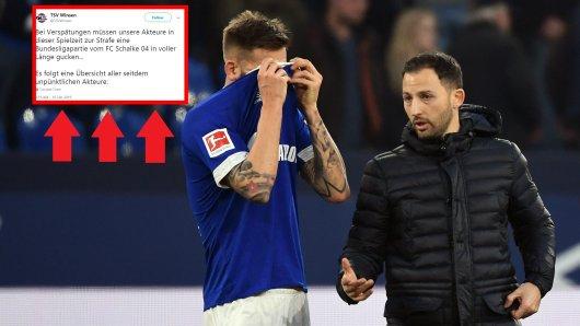 Mit diesem Tweet macht sich der TSV Winsen über den FC Schalke 04 lustig.