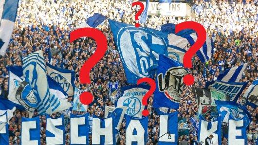 Beim Spiel des FC Schalke gegen Freiburg präsentierten S04-Fans gezocktes Freiburger Fanmaterial.