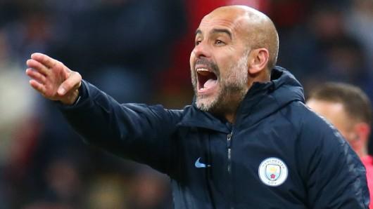 Schalke - Manchester City: Pep Guardiola will mit seinem Team in Gelsenkirchen bestehen.
