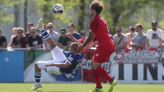 Ahmed Kutucu erzielte das 2:0 für die U23 des FC Schalke 04 spektakulär per Fallrückzieher.