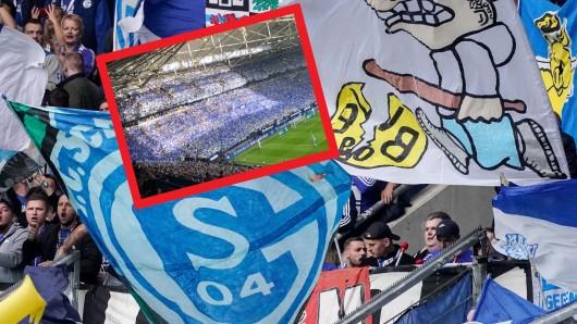 Vor dem Derby zwischen Schalke und Dortmund gab es eine Choreo der S04-Fans.