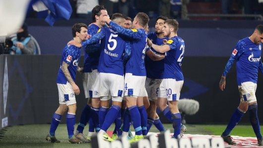Der FC Schalke 04 hatte gegen Borussia Mönchengladbach allen Grund zum Jubeln.