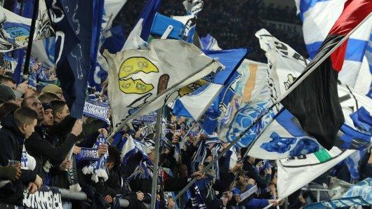 Die Schalker Nordkurve im Heimspiel gegen Borussia Mönchengladbach.