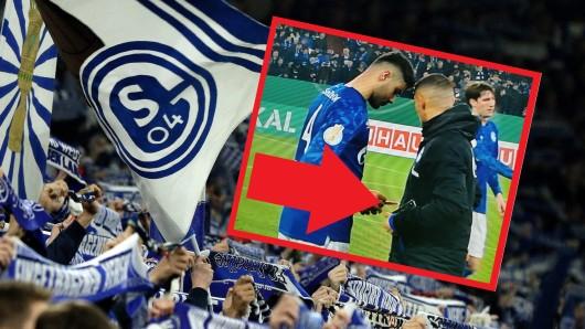 Beim Spiel zwischen Schalke und Hertha BSC kam es zu einer kuriosen Szene.