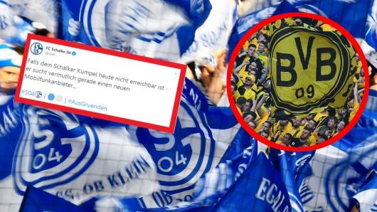 Der FC Schalke 04 stichelte mit einem frechen Tweet gegen Borussia Dortmund.