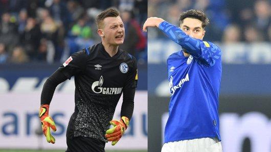 Muss Schalke lange auf Markus Schubert (l.) und Suat Serdar verzichten?