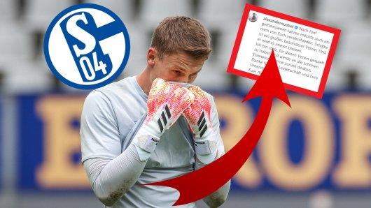 Alexander Nübel verabschiedete sich emotional von den Fans des FC Schalke 04.