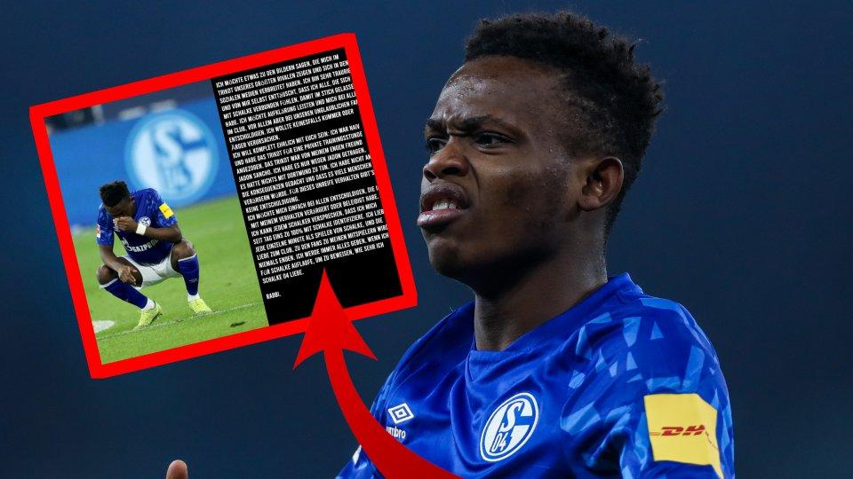 Beim FC Schalke 04 entschuldigt sich Rabbi Matondo für seinen Trikot-Fail.