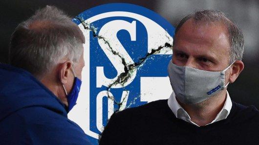 Beim FC Schalke 04 steht Kaderplaner Michael Reschke (l.) offenbar vor dem Aus.