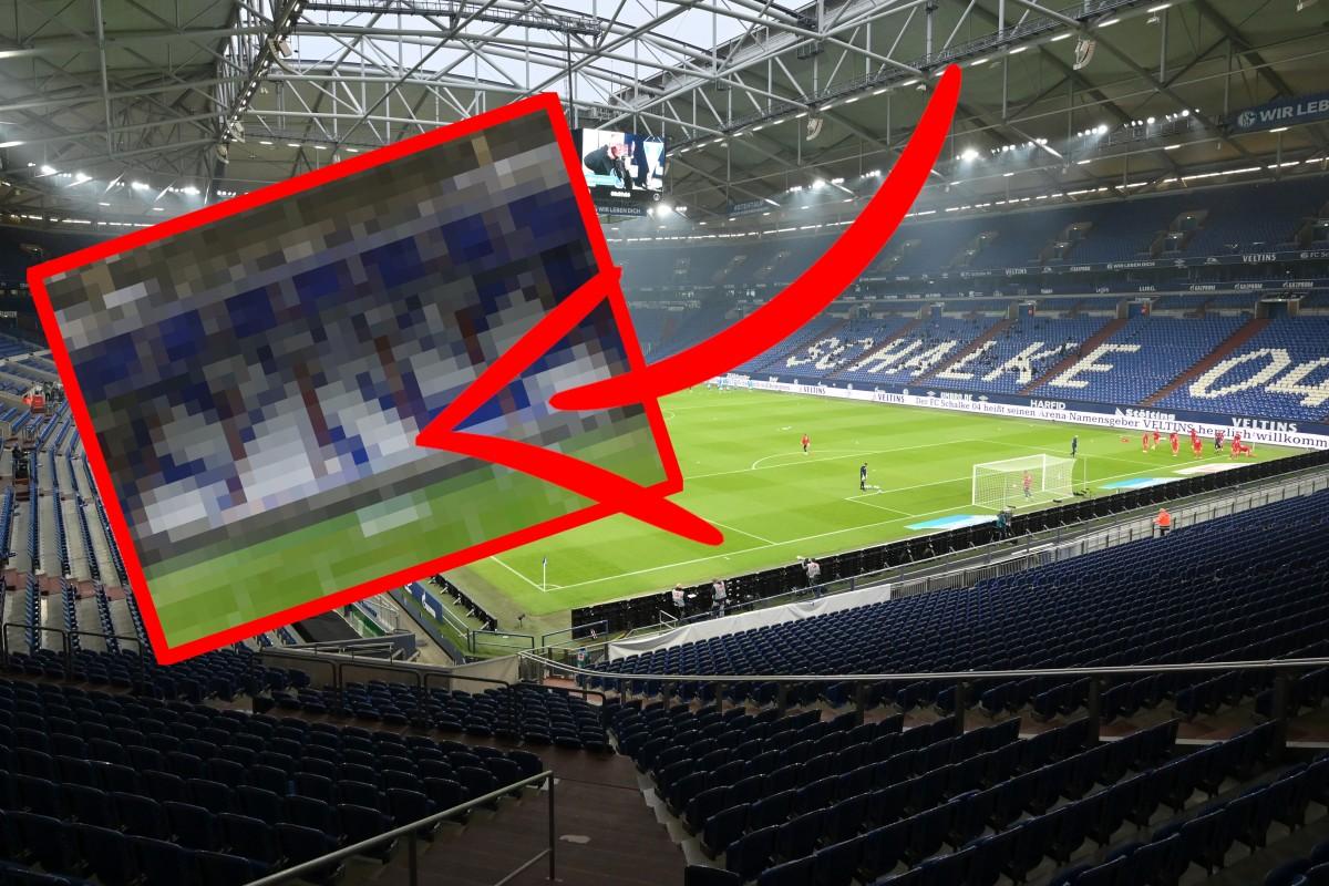 Schalke – Dortmund: Irre Derby-Choreo auf leeren Rängen - derwesten.de