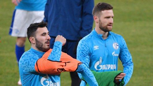 Schalke 04: Sead Kolasinac und Skhodran Mustafi mussten gegen Augsburg auf der Bank Platz nehmen.