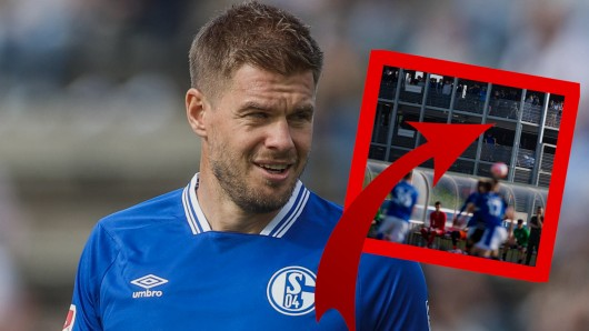 Beim FC Schalke 04 wussten sich die Fans, die kein Ticket für das Testspiel bekommen hatten, zu helfen.