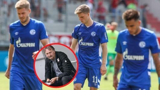 Nach der desaströsen 1:4-Niederlage gegen Regensburg rechnet der ehemalige S04-Coach Peter Neururer mit dem Traditionsklub ab.