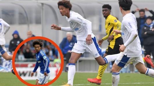 FC Schalke 04: Bei den Haaren sieht man schon eine Ähnlichkeit, deshalb wundert es nicht, dass S04-Youngster Sidi Sané sehr an seinen älteren Bruder erinnert.