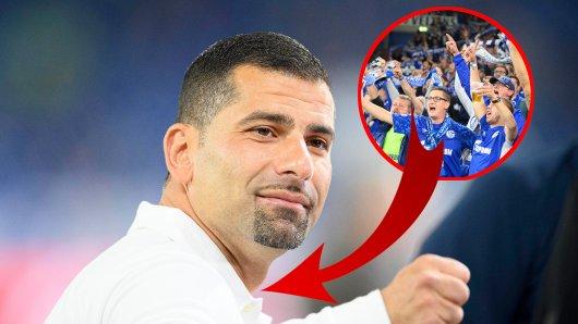 Immer wieder muss sich Schalke-Trainer Dimitrios Grammozis Kritik gefallen lassen. Jetzt brechen allerdings eiinige Fans eine Lanze für ihn.