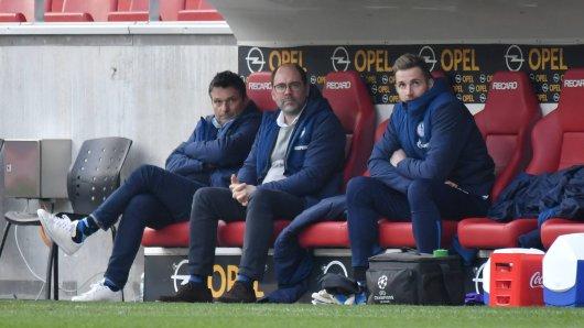 Christian Heidel (l.) war zweieinhalb Jahre Manager des FC Schalke 04.