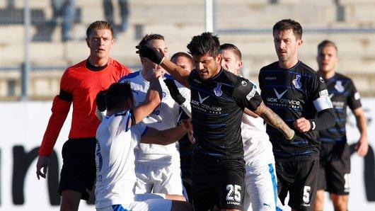 Baris Özbek eskalierte am Wochenende im Spiel gegen die Sportfreunde Lotte.