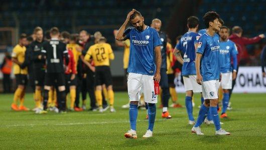 Enttäuschung bei den Spielern des VfL Bochum.