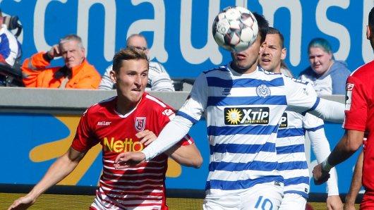 Der MSV Duisburg hatte gegen Regensburg alle Hände voll zu tun.