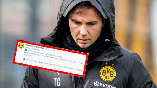 Mit Mario Götze wird bei Borussia Dortmund offenbar nicht mehr geplant.