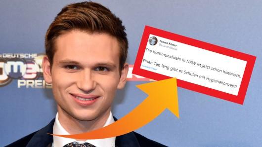 NRW-Kommunalwahl 2020: Heute Show-Reporter und Satiriker Fabian Köster hat den Nerv der Zeit mit diesem Tweet genau getroffen.