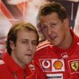 Michael Schumacher und Luca Badoer arbeiteten bei Ferrari jahrelang Seite an Seite.