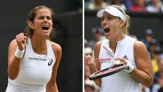 Bei Wimbledon stehen Angelique Kerber und Julia Görges im Halbfinale.