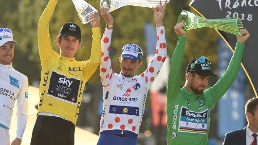 Gelbes Trikot, Bergtrikot, Grünes Trikot: Dürfen Geraint Thomas, Julian Alaphilippe und Peter Sagan auch bei der Tour de France 2019 jubeln?