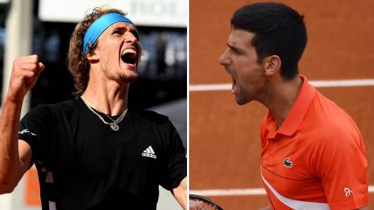Alexander Zverev - Novak Djokovic im Live-Ticker: Hier gibt's alle Infos und Highlights vom Viertelfinale der French Open 2019!
