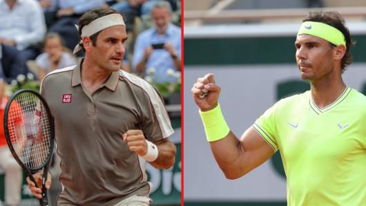Im Halbfinale der French Open 2019 treffen Rafael Nadal und Roger Federer aufeinander.