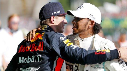 Max Verstappen musste sich im Endspurt gegen Lewis Hamilton geschlagen geben.