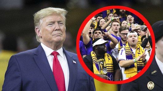 Donald Trump besuchte am Montagabend das Finale des College Football.