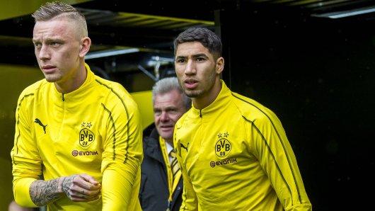 Marius Wolf (l.) will nicht zu Borussia Dortmund zurückkehren.
