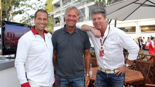 Die Formel 1-Crew von RTL löst sich auf: Christian Danner (m.) wechselt zu Sat.1. (Archivbild)
