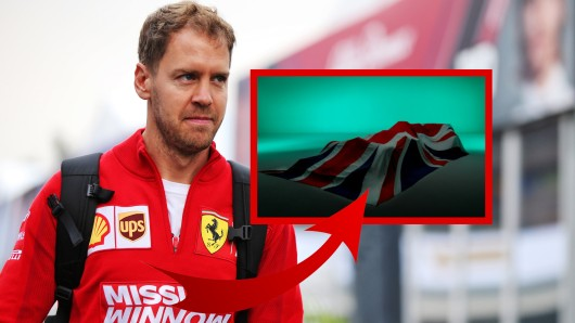 Sebastian Vettel zeigt zum ersten Mal seinen neuen Dienstwagen.