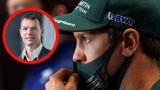 Teambesitzer Hubert Haupt (l.) macht Formel 1-Fahrer Sebastian Vettel ein überraschendes Angebot.
