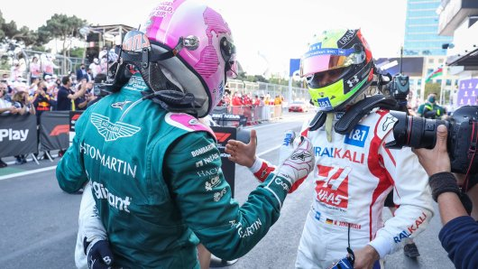 Sebastian Vettel und Mick Schumacher kommen gut miteinander aus.