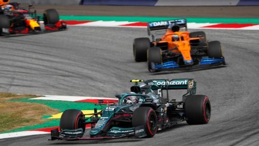 Formel 1: Sebastian Vettel crashte kurz vor Ende des Österreich-GP.