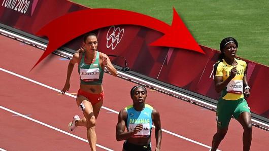 Bei Olympia 2021 blamierte sich Gold-Favoritin Shericka Jackson schon im Vorlauf.