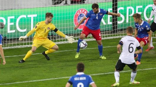 Außenseiter Liechtenstein hielt gegen Deutschland lange gut mit.