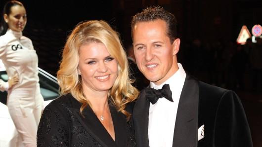 Corinna Schumachrer mit Ehemann Michael Schumacher.