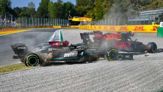 Formel 1: Der Unfall zwischen Lewis Hamilton und Max Verstappen.