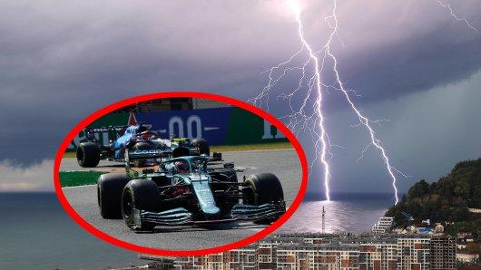 Der Formel 1 droht in Russland das nächste Wetterchaos.