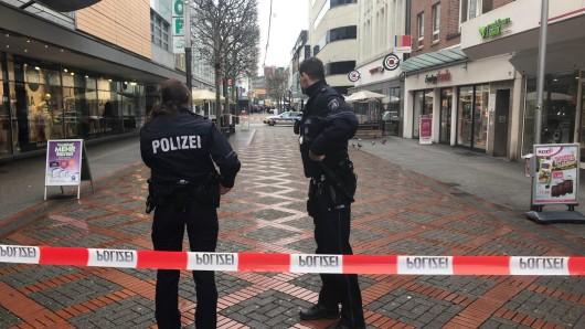 Die Polizei sperrte die Einkaufspassage in Gelsenkirchen aufgrund einer Bombendrohung ab.